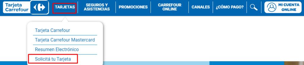 solicitar tarjeta Carrefour