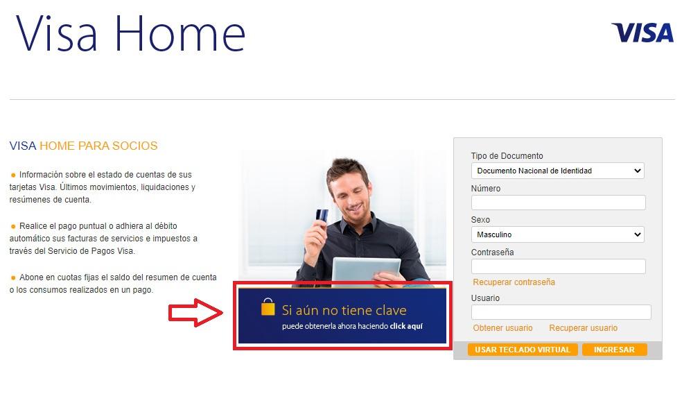 registrarse en tarjeta shopping visa home