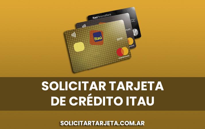 solicitar tarjeta de credito itau