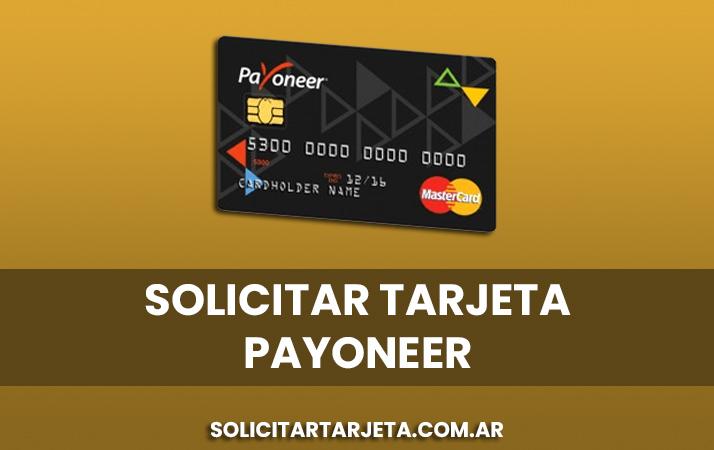 solicitar tarjeta payoneer