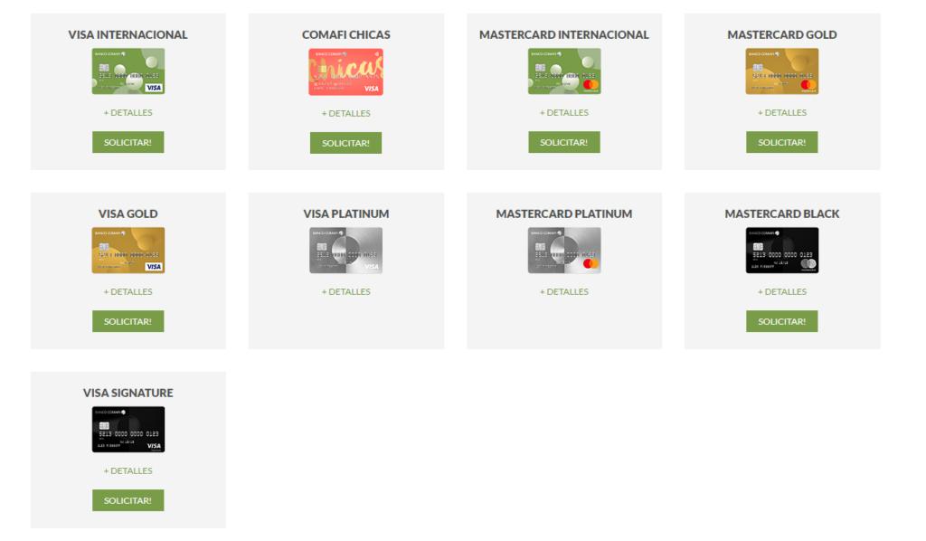 tarjetas de bancomafi