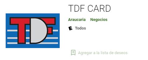 tdf card app