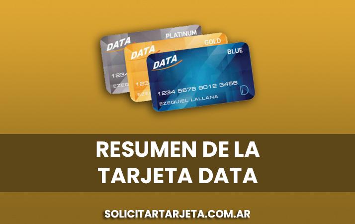 resumen de la tarjeta data