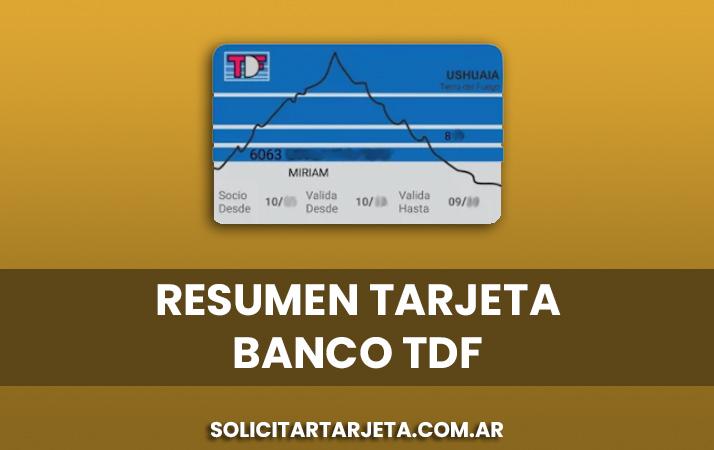 resumen de tarjeta tdf