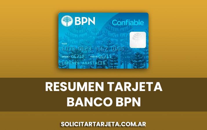 resumen de la tarjeta banco bpn