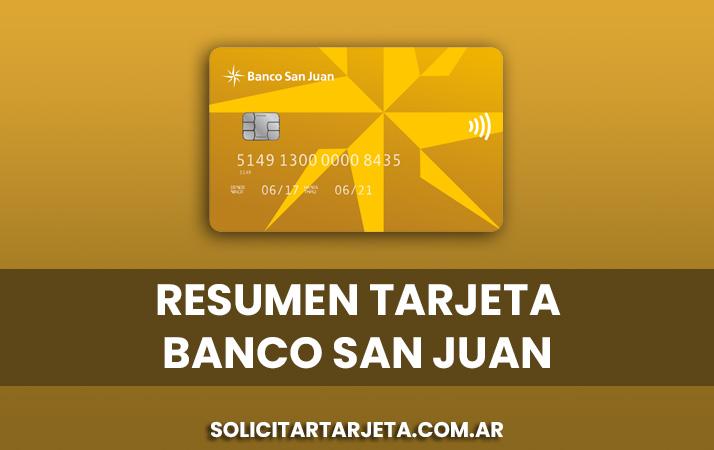 resumen de tarjeta banco san juan