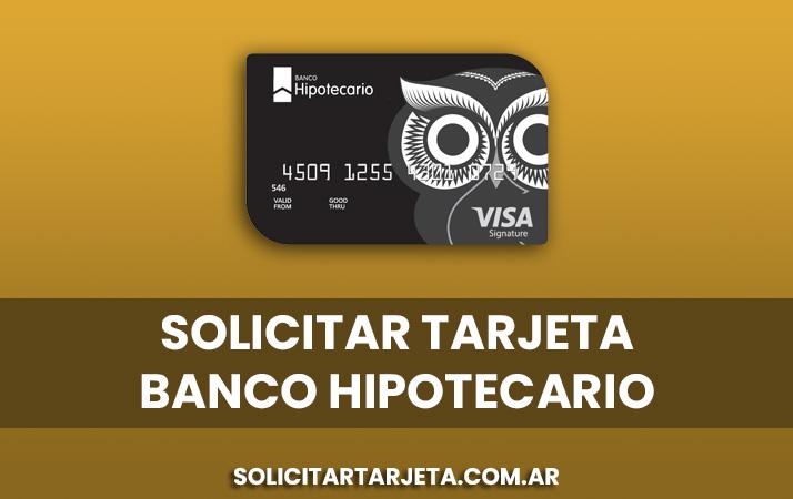 solicitar tarjeta de banco hipotecario